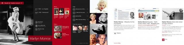 Cerca de Marilyn Monroe a Windows 8.1